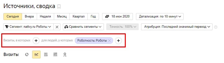 Сегменты в Яндекс Метрика